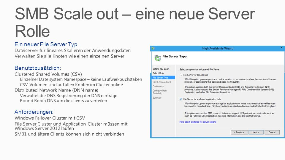 SMB Scale out – eine neue Server Rolle