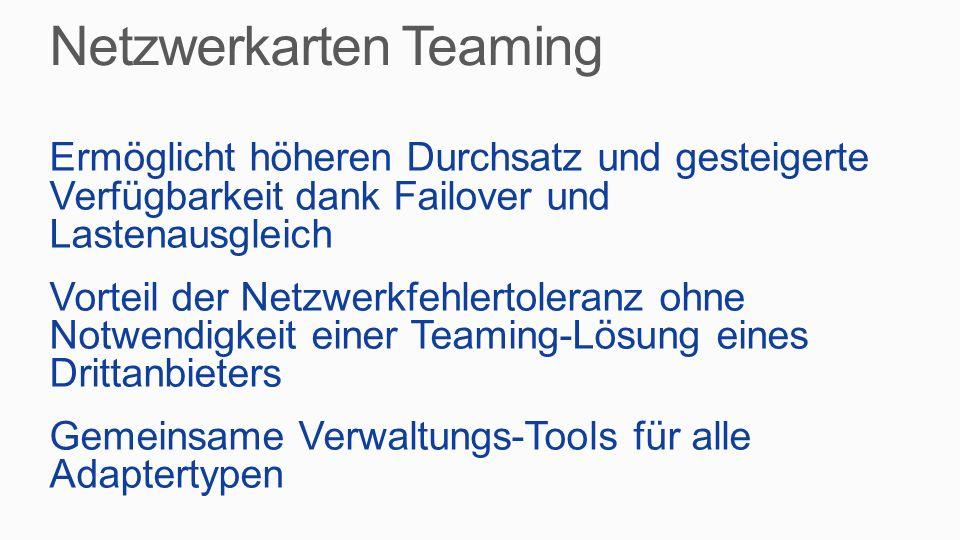 Netzwerkarten Teaming