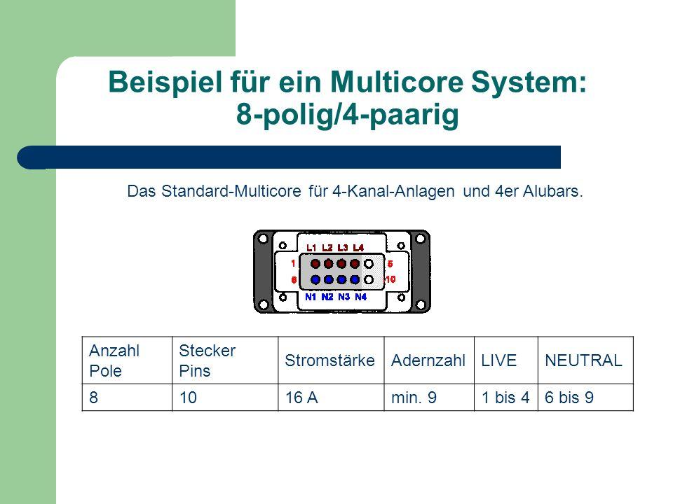 Beispiel für ein Multicore System: 8-polig/4-paarig