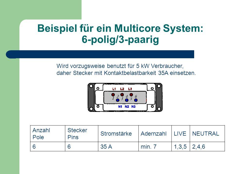 Beispiel für ein Multicore System: 6-polig/3-paarig