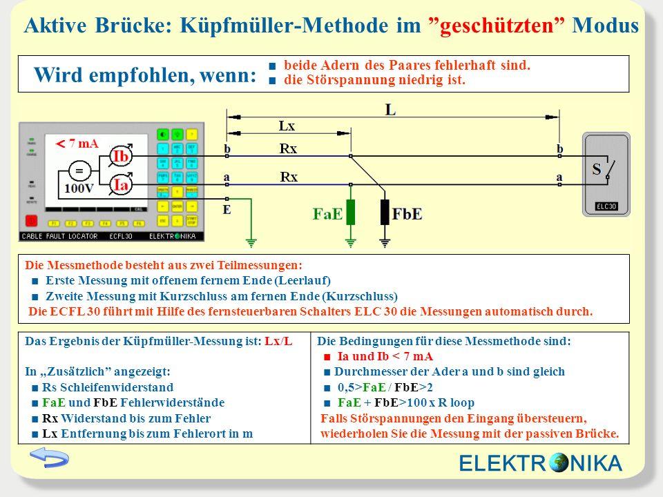 Aktive Brücke: Küpfmüller-Methode im geschützten Modus