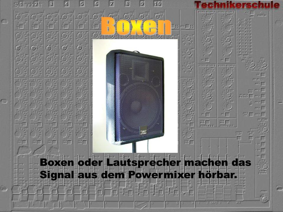 Boxen Boxen oder Lautsprecher machen das