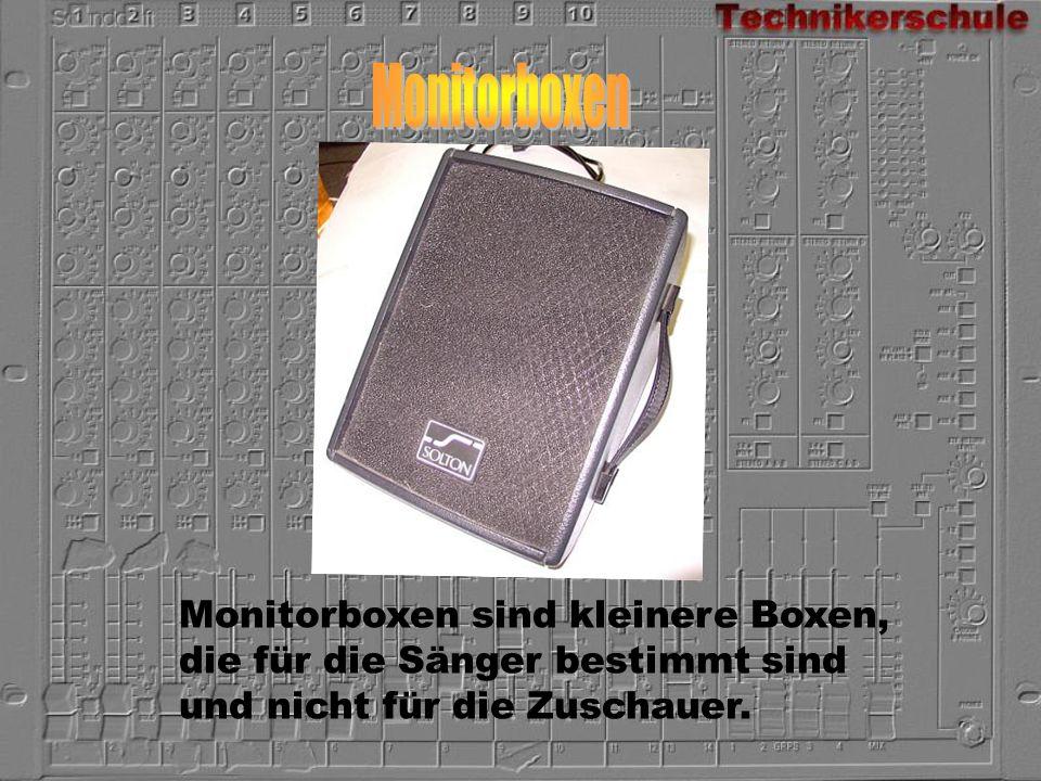 Monitorboxen Monitorboxen sind kleinere Boxen,