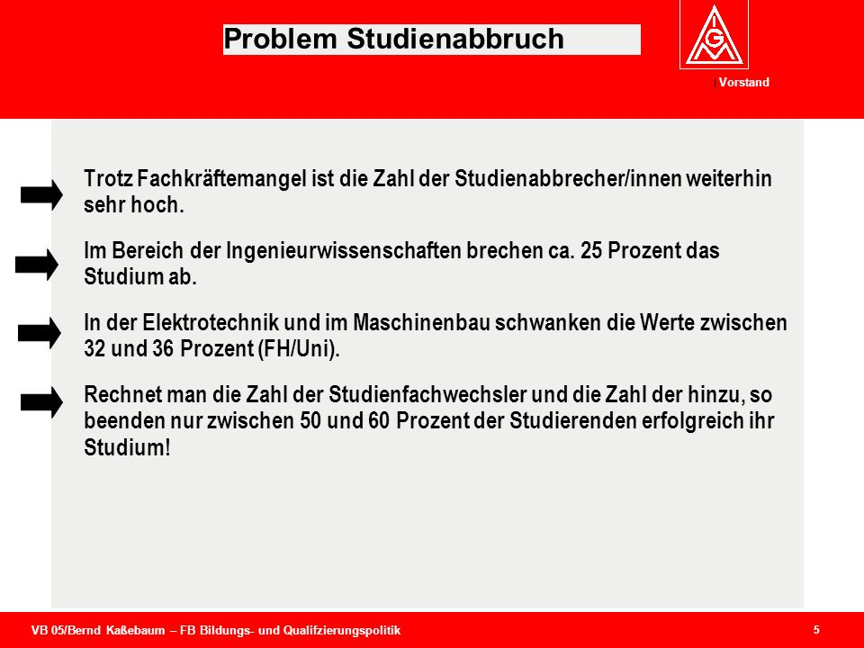 Problem Studienabbruch