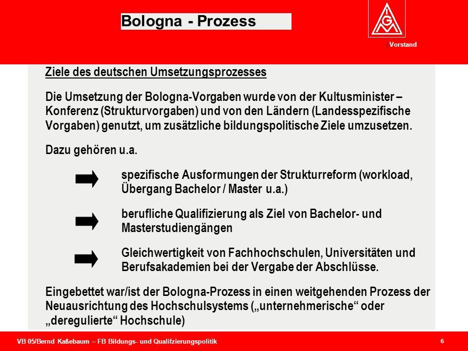Bologna - Prozess Ziele des deutschen Umsetzungsprozesses