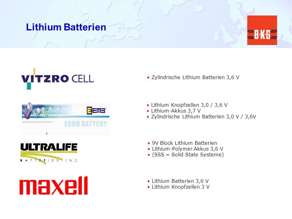 Lithium Batterien Zylindrische Lithium Batterien 3,6 V