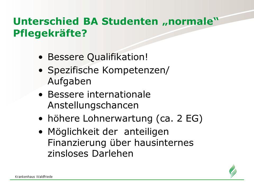 "Unterschied BA Studenten ""normale Pflegekräfte"