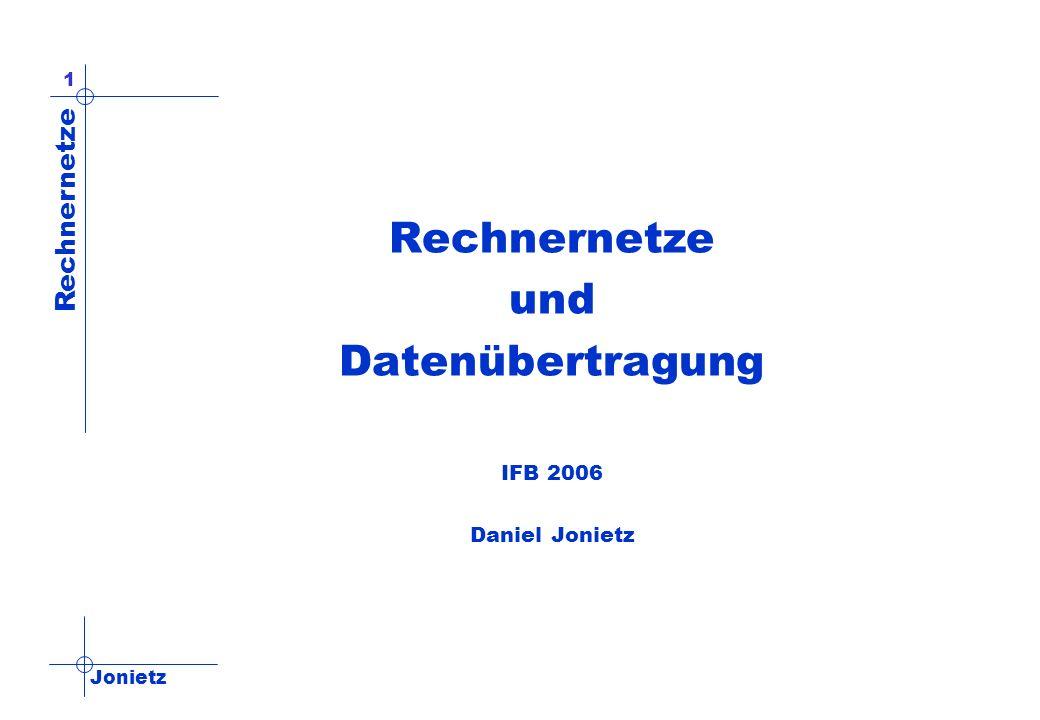 Rechnernetze und Datenübertragung IFB 2006 Daniel Jonietz