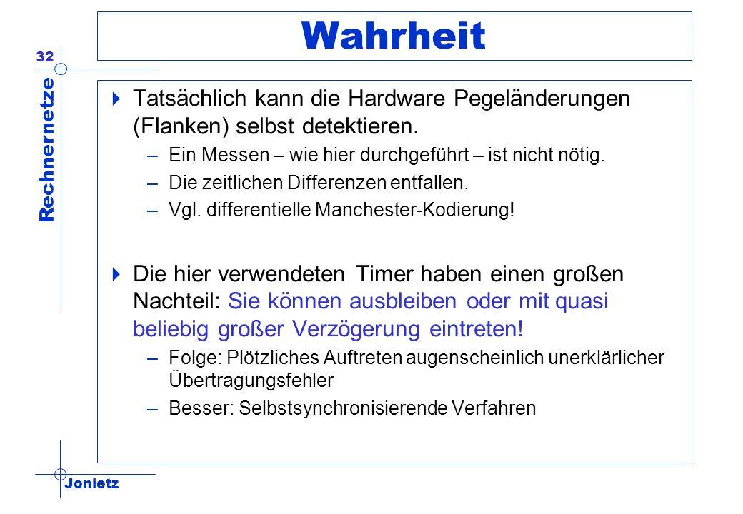Wahrheit Tatsächlich kann die Hardware Pegeländerungen (Flanken) selbst detektieren. Ein Messen – wie hier durchgeführt – ist nicht nötig.