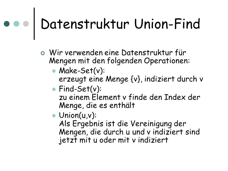 Datenstruktur Union-Find