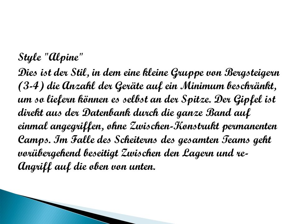 Style Alpine
