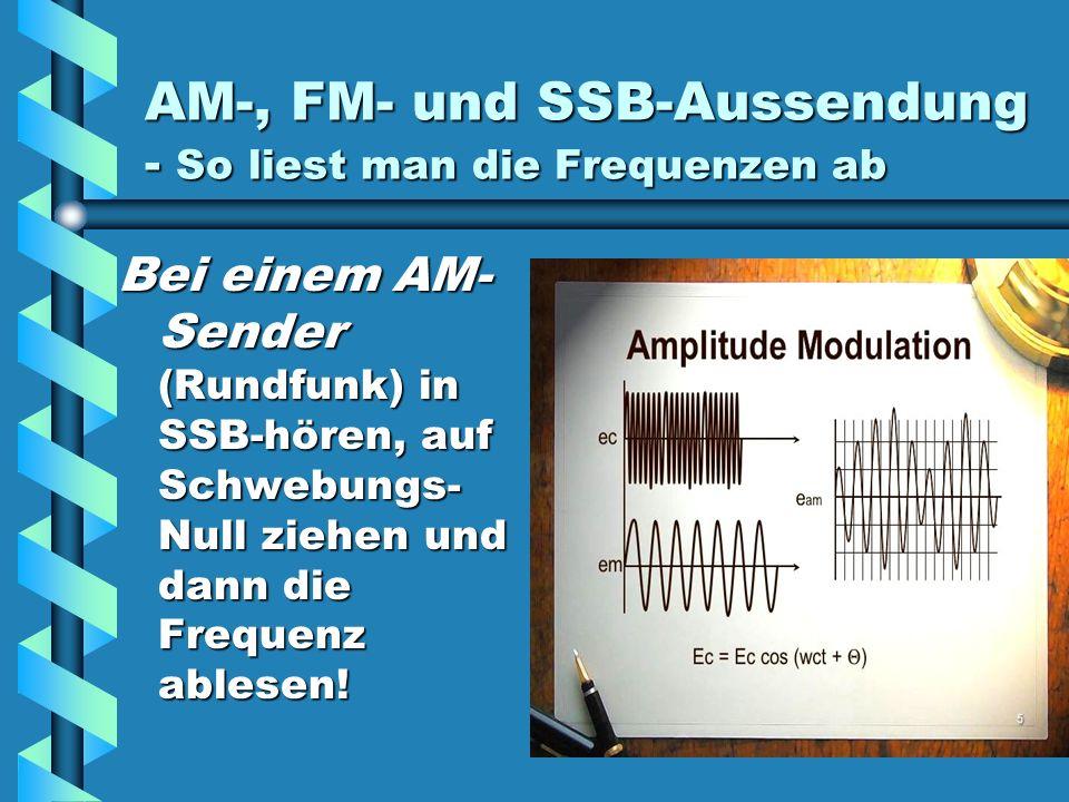 AM-, FM- und SSB-Aussendung - So liest man die Frequenzen ab