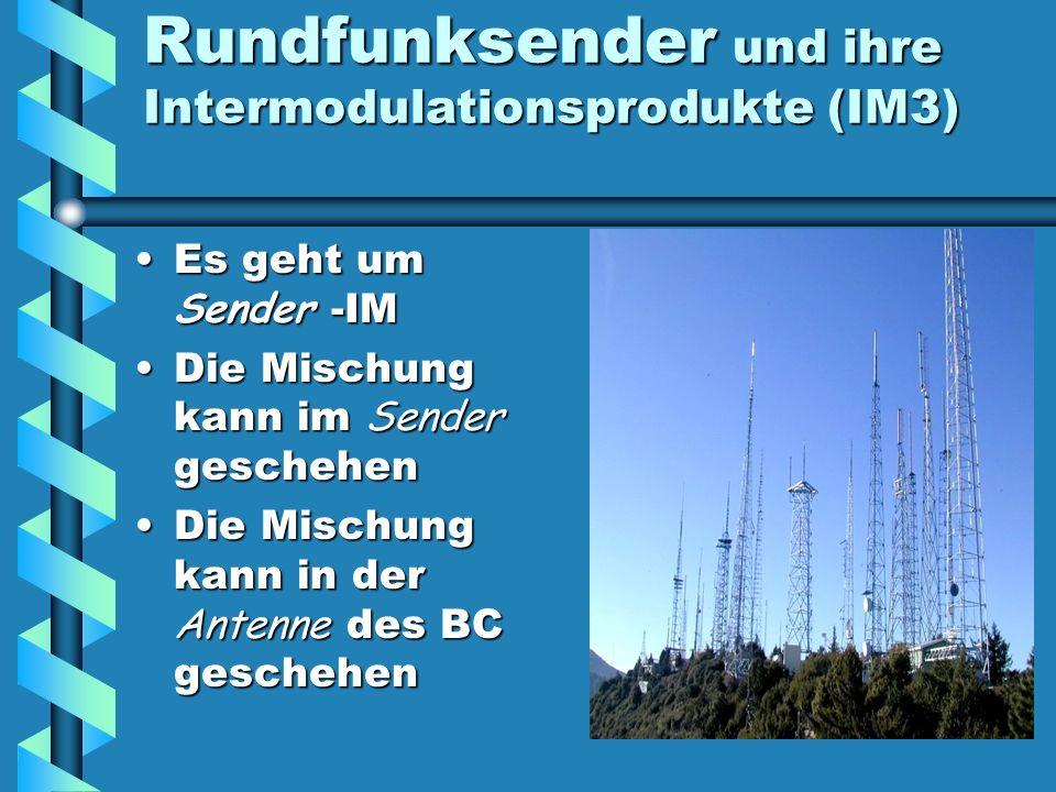 Rundfunksender und ihre Intermodulationsprodukte (IM3)