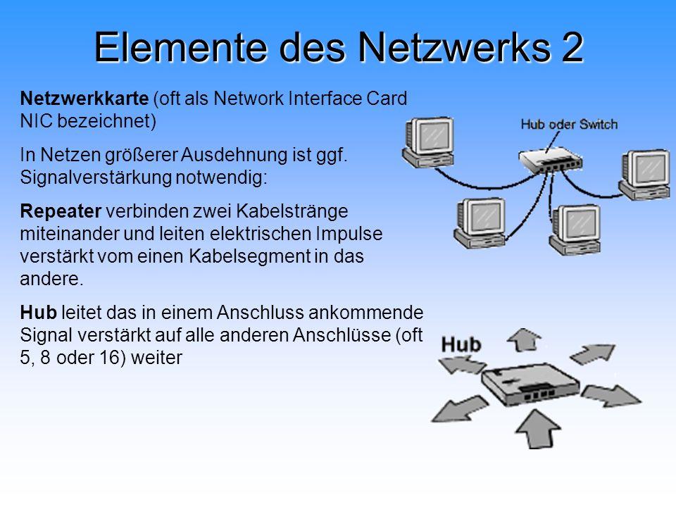 Elemente des Netzwerks 2