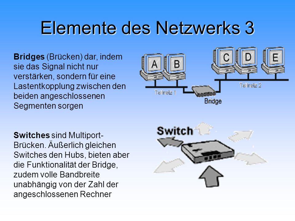 Elemente des Netzwerks 3
