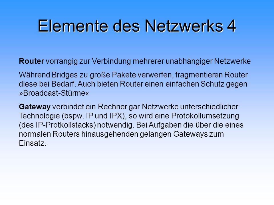 Elemente des Netzwerks 4