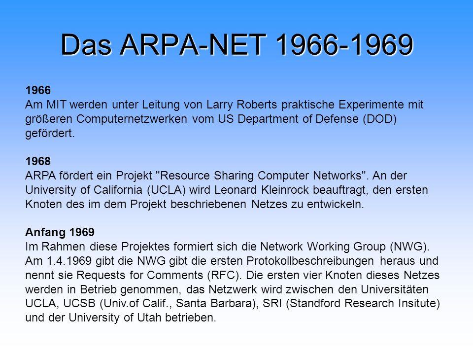 Das ARPA-NET 1966-1969