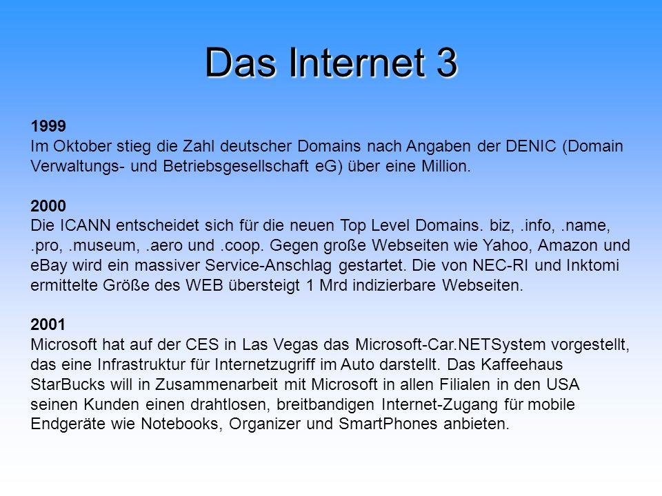 Das Internet 3 1999.