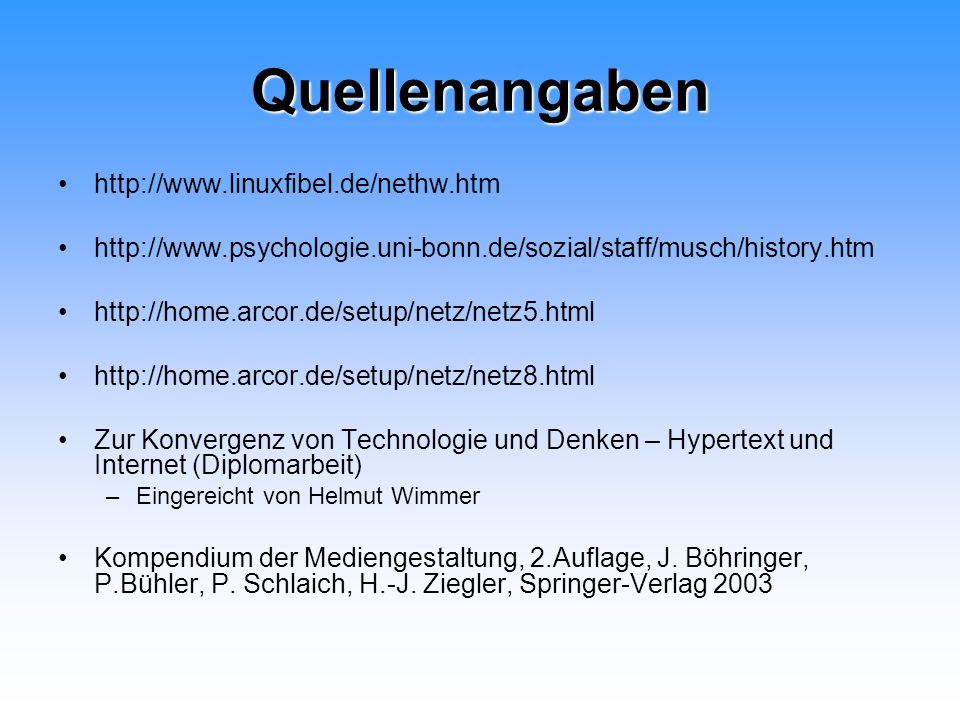 Quellenangaben http://www.linuxfibel.de/nethw.htm