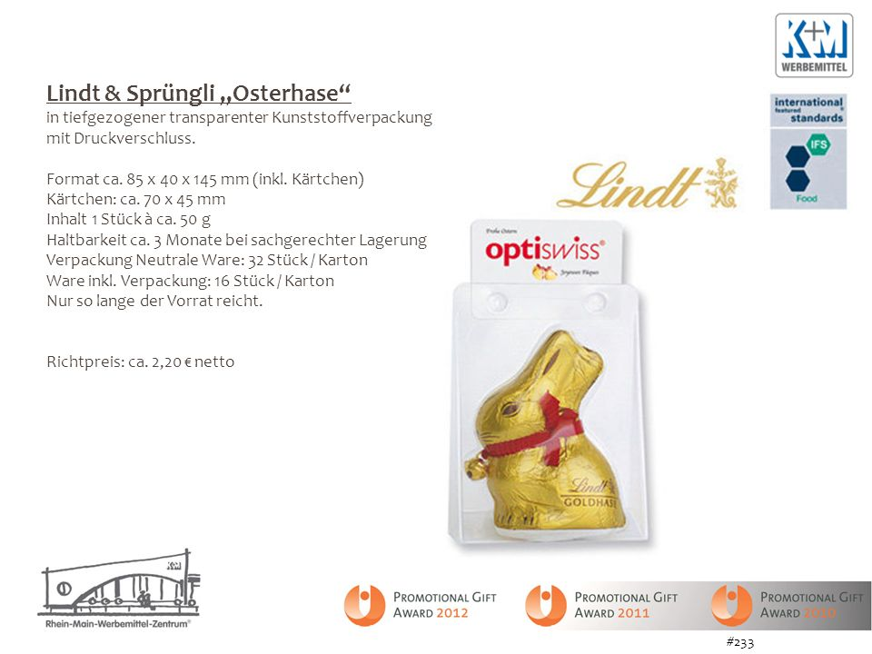 "Lindt & Sprüngli ""Osterhase"