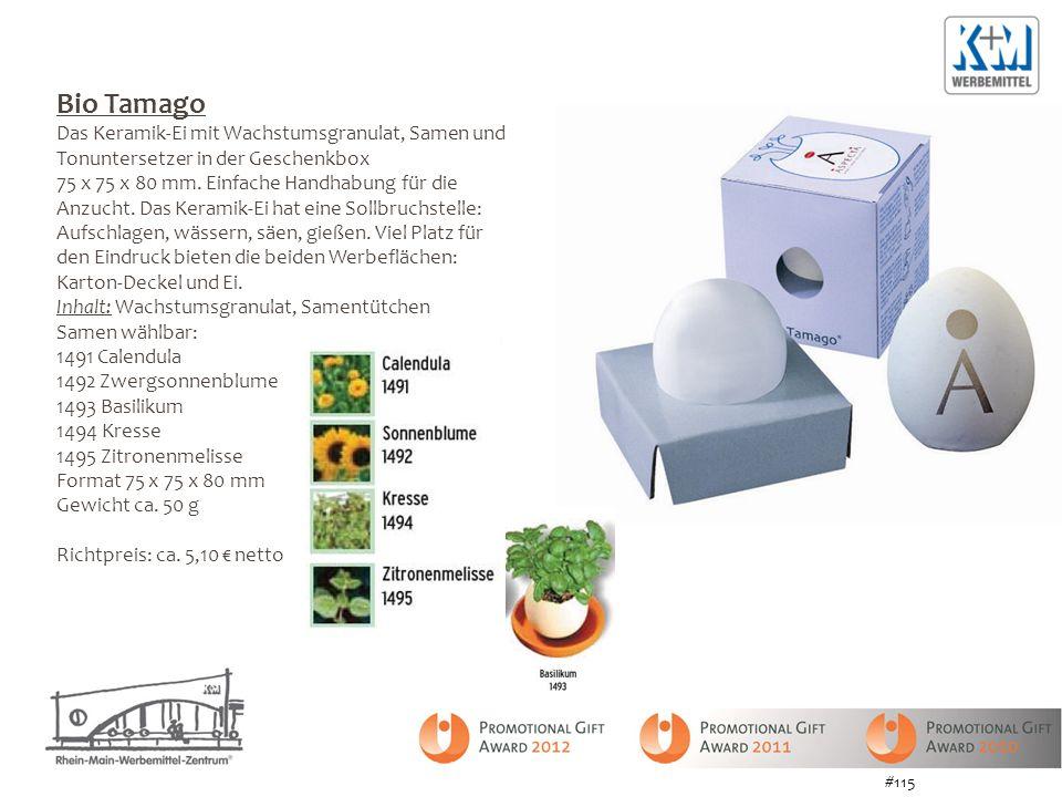 Bio Tamago Das Keramik-Ei mit Wachstumsgranulat, Samen und Tonuntersetzer in der Geschenkbox.