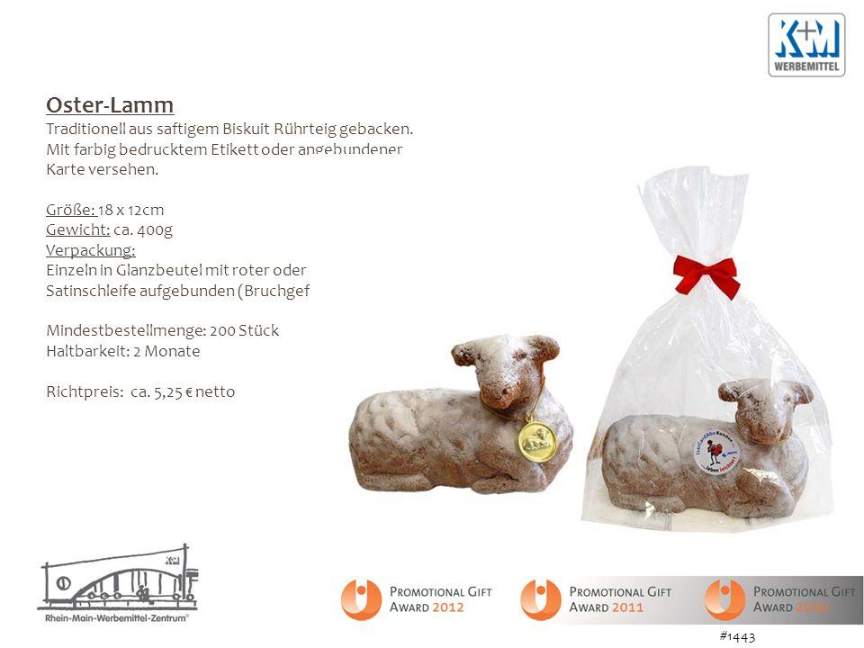 Oster-Lamm Traditionell aus saftigem Biskuit Rührteig gebacken