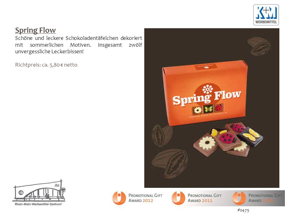 Spring Flow Schöne und leckere Schokoladentäfelchen dekoriert mit sommerlichen Motiven. Insgesamt zwölf unvergessliche Leckerbissen!