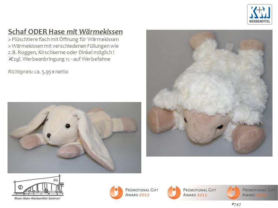 Schaf ODER Hase mit Wärmekissen