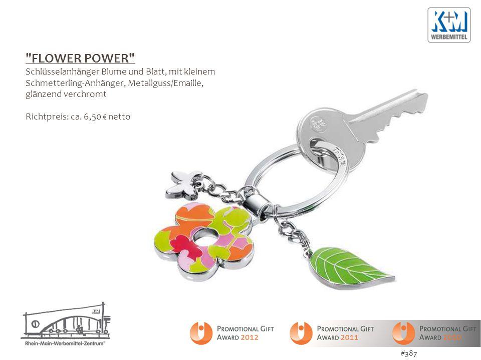 FLOWER POWER Schlüsselanhänger Blume und Blatt, mit kleinem
