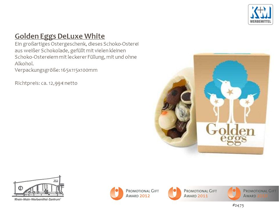Golden Eggs DeLuxe White