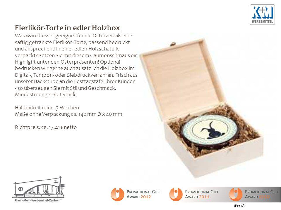 Eierlikör-Torte in edler Holzbox