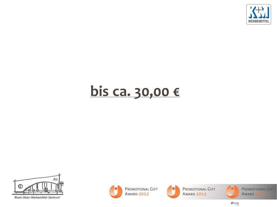 bis ca. 30,00 € #115