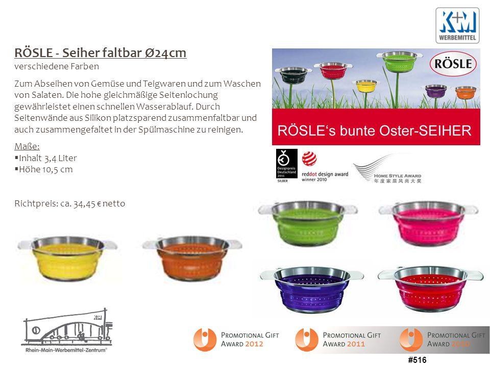 RÖSLE - Seiher faltbar Ø24cm verschiedene Farben