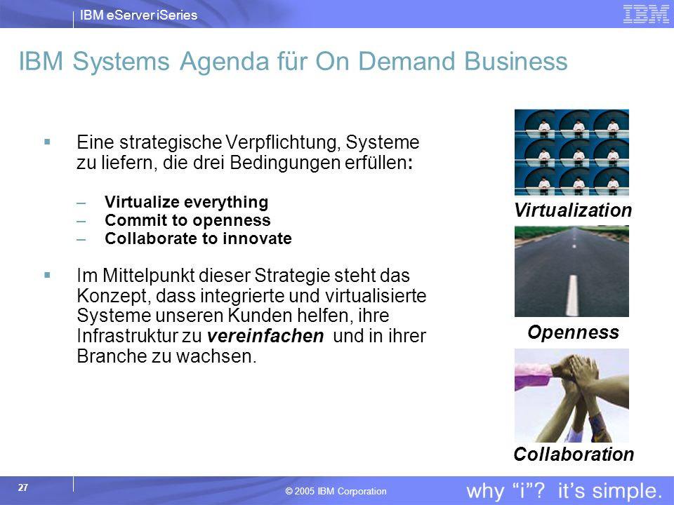IBM Systems Agenda für On Demand Business