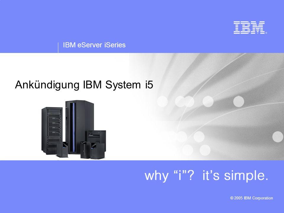 Ankündigung IBM System i5