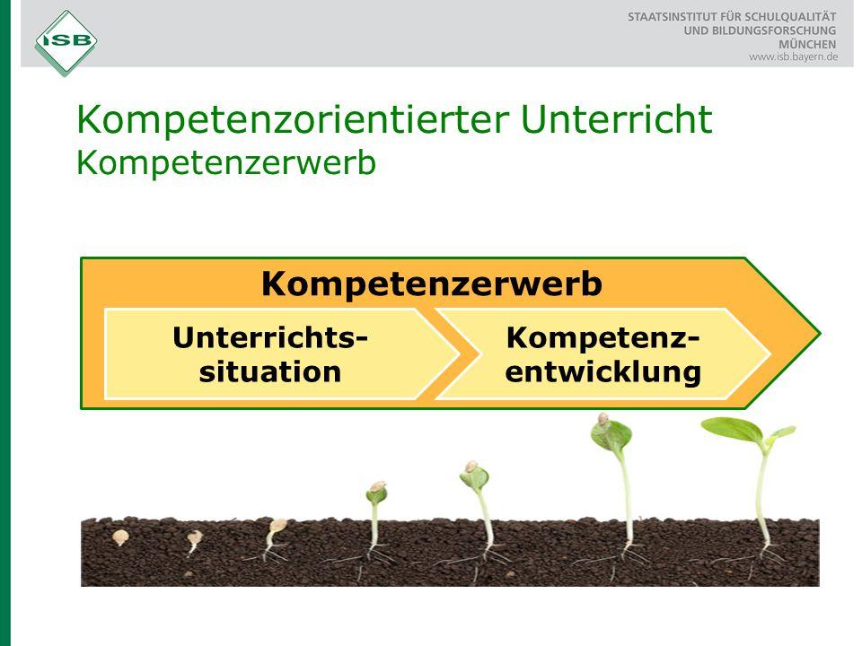 Unterrichts-situation Kompetenz-entwicklung