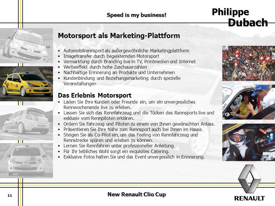 Philippe Dubach Motorsport als Marketing-Plattform