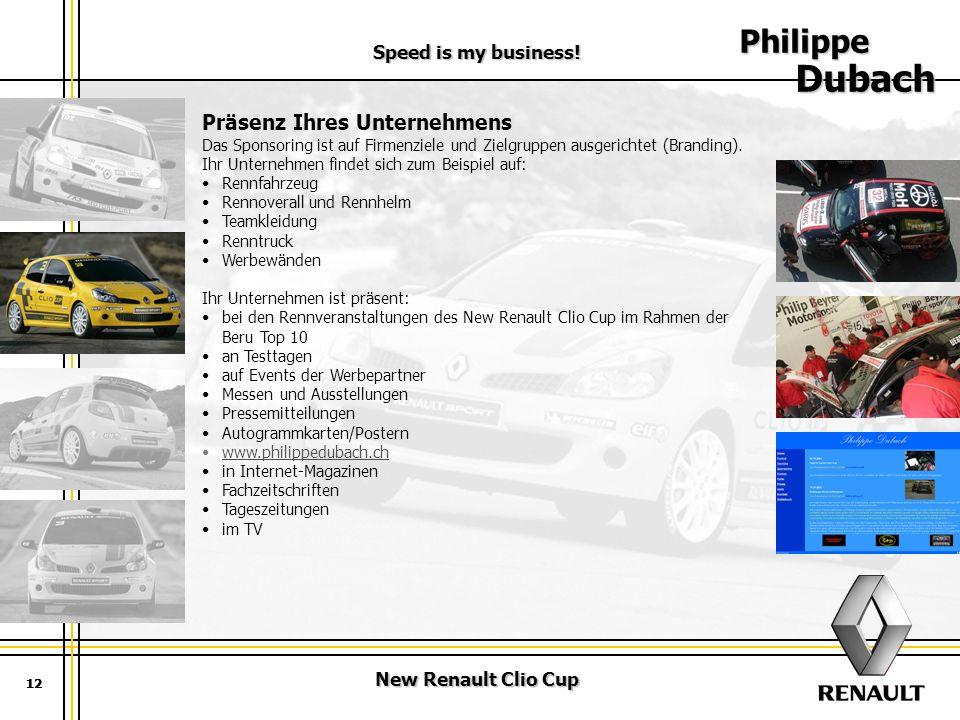 Philippe Dubach Präsenz Ihres Unternehmens Speed is my business!