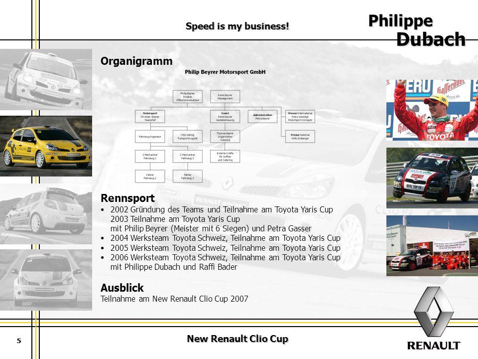 Philippe Dubach Organigramm Rennsport Ausblick Speed is my business!
