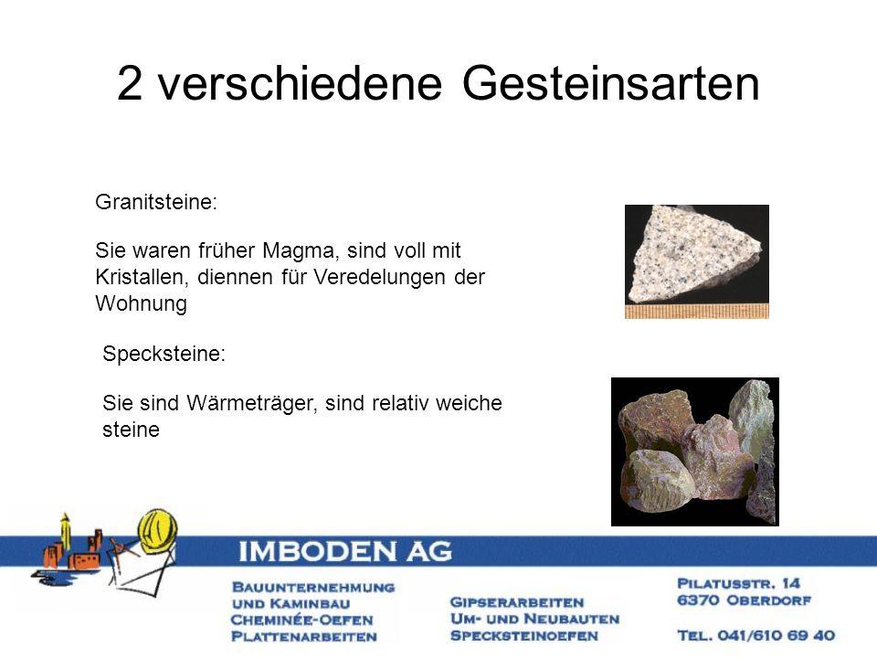 2 verschiedene Gesteinsarten