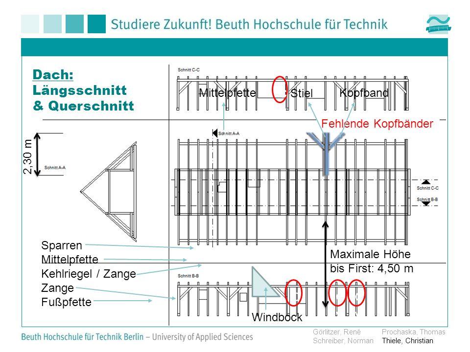 cv cv cv cv Dach: Längsschnitt & Querschnitt Mittelpfette Stiel