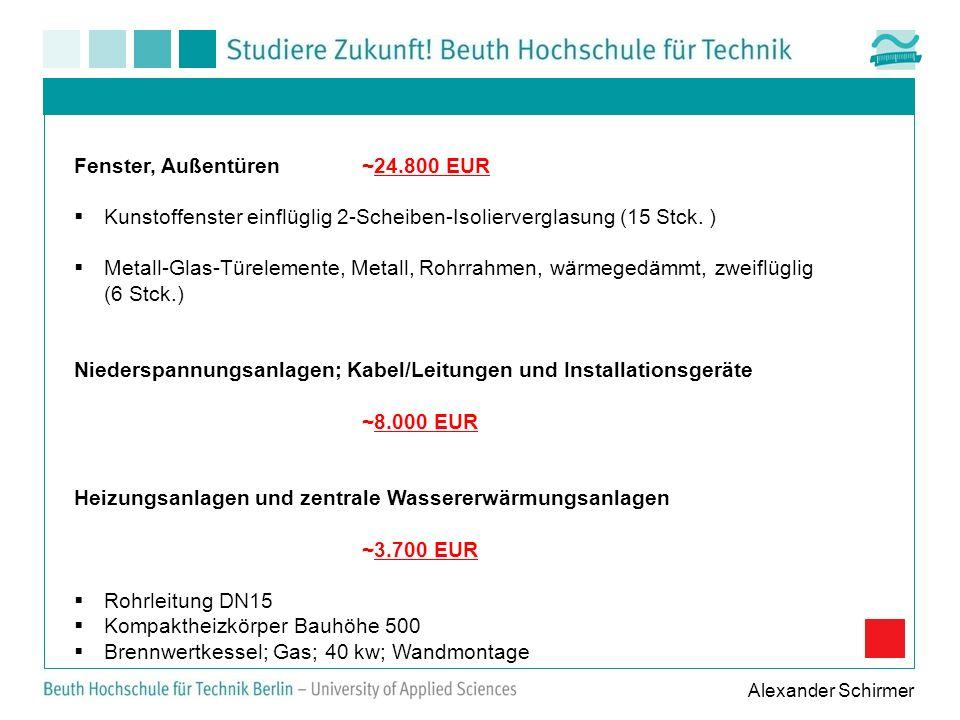 Fenster, Außentüren ~24.800 EUR