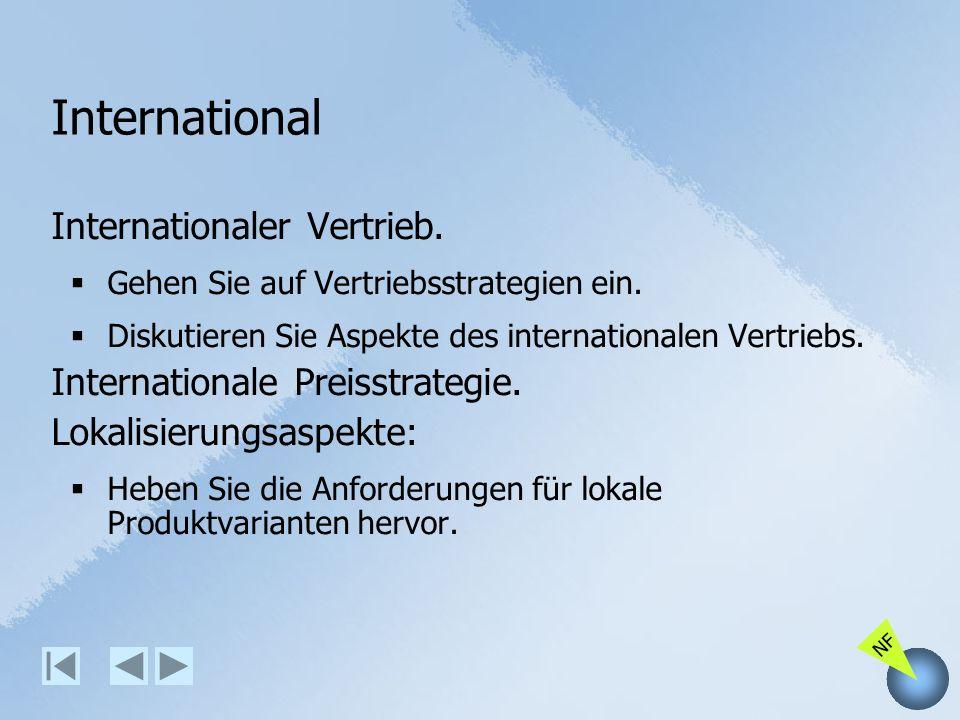International Internationaler Vertrieb. Internationale Preisstrategie.