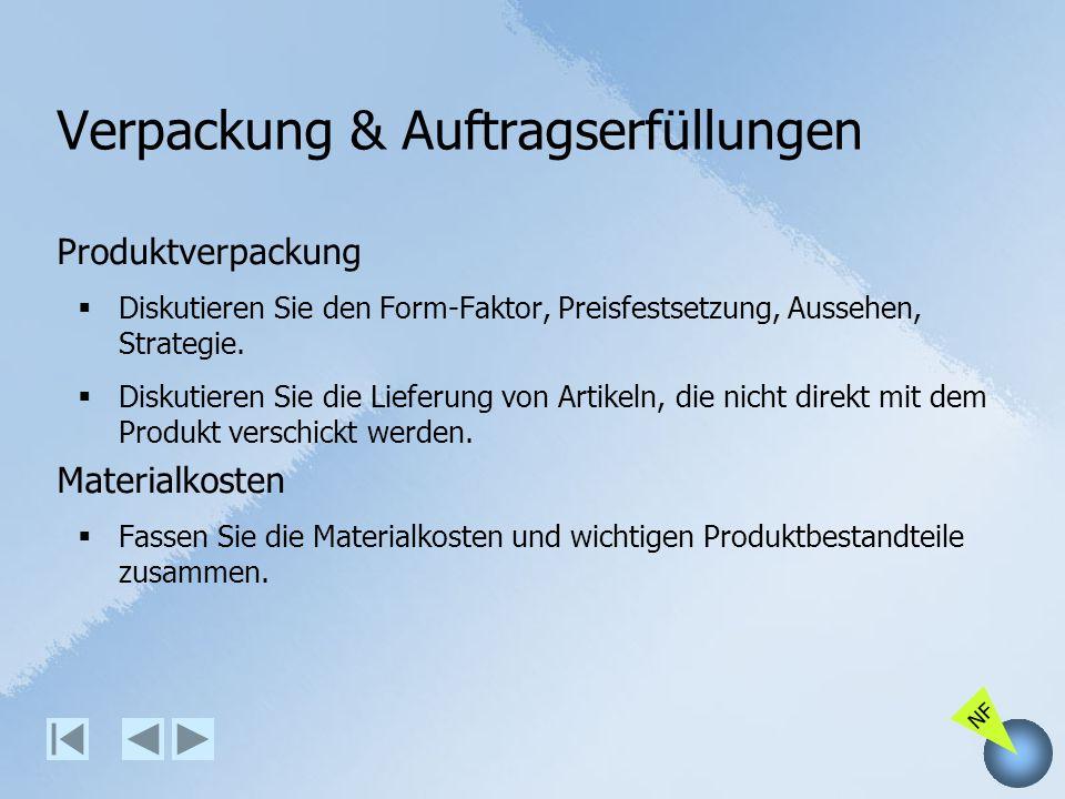 Verpackung & Auftragserfüllungen