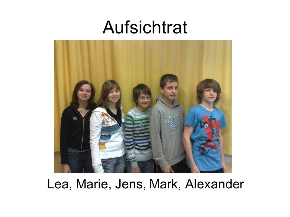 Lea, Marie, Jens, Mark, Alexander