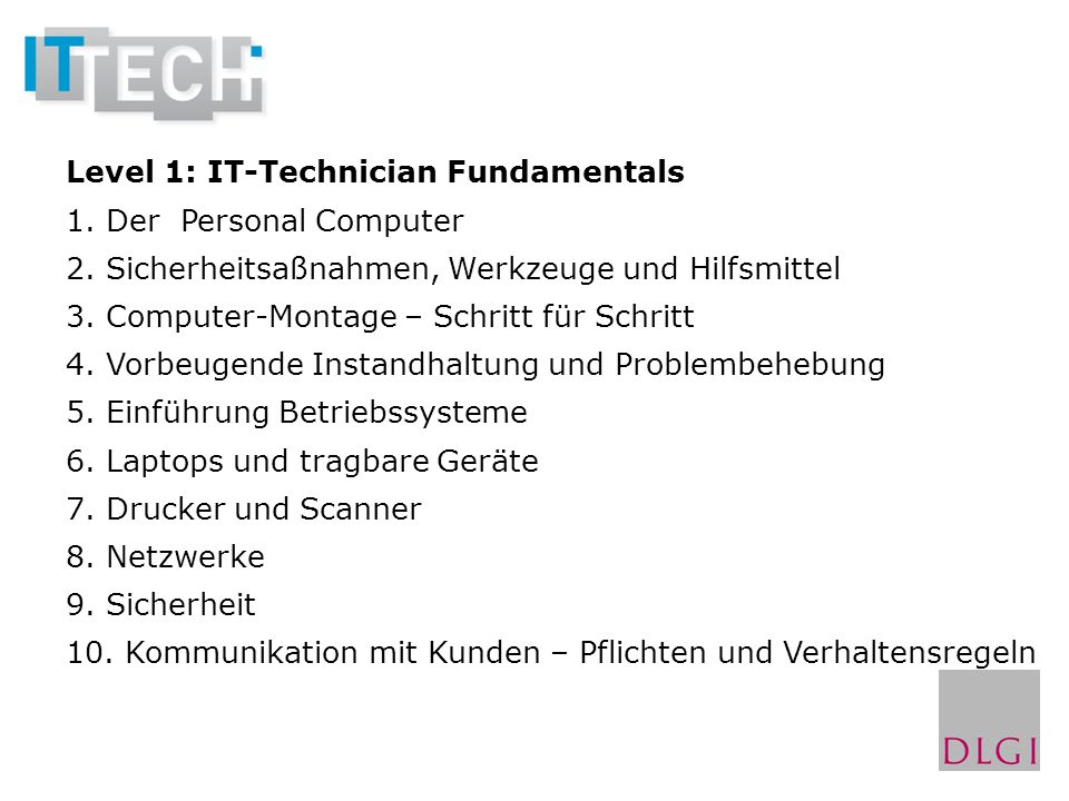 Level 1: IT-Technician Fundamentals