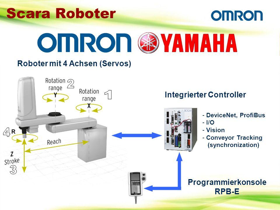 Scara Roboter 2 1 4 3 Roboter mit 4 Achsen (Servos)
