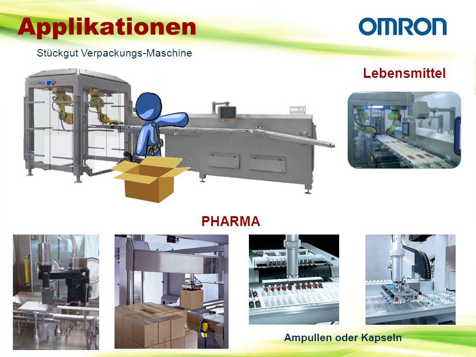 Applikationen Lebensmittel PHARMA Stückgut Verpackungs-Maschine