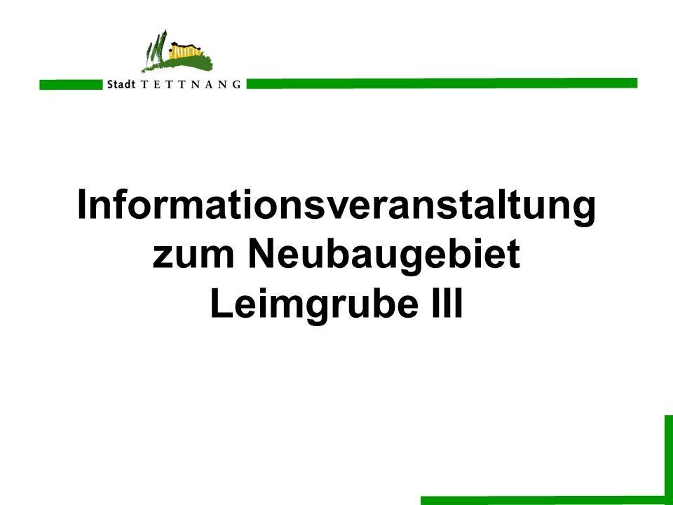 Informationsveranstaltung zum Neubaugebiet Leimgrube III