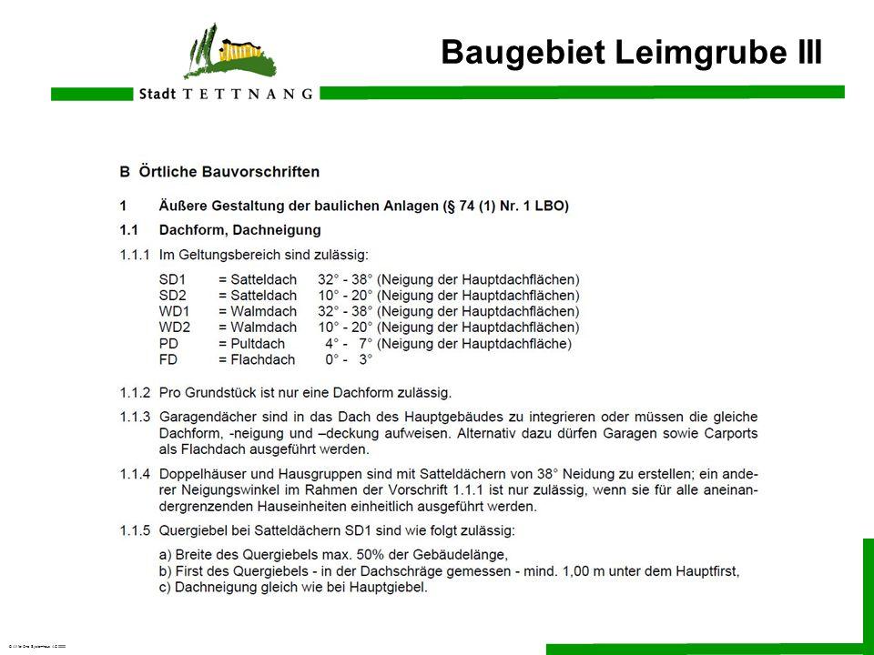 Baugebiet Leimgrube III